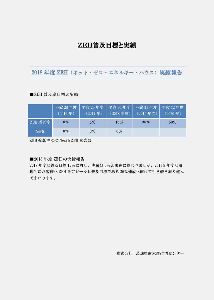 2018年度ZEH実績報告と普及目標